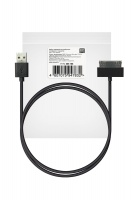 ROBITON P4-iphone4/1m/Charge&Sync USB A - Apple iPhone 4, 1м черный PK1